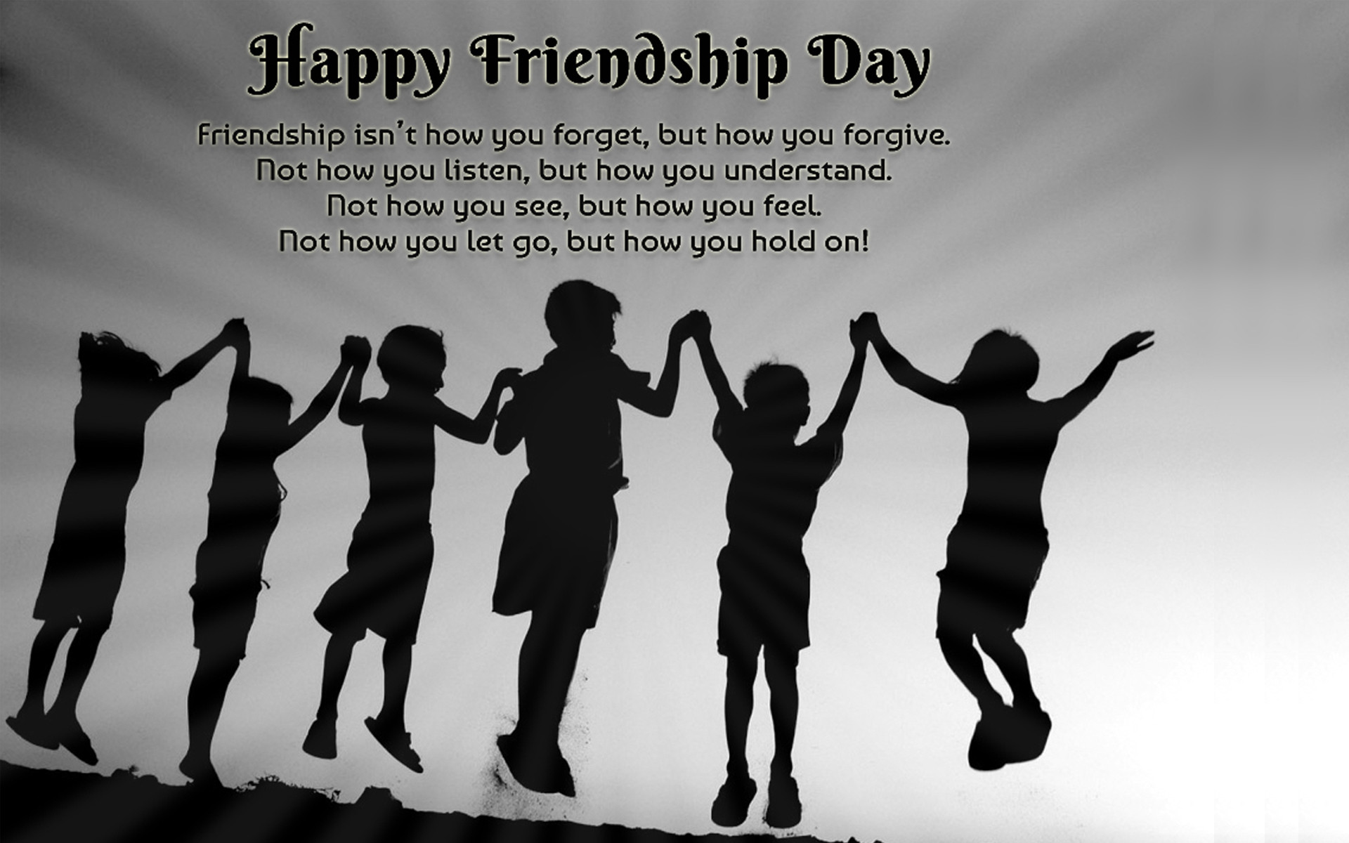 happy friendship day joyful wallpaper