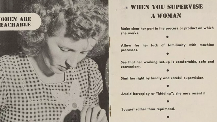 Guide On 'How To Supervise Women' From The 1940s