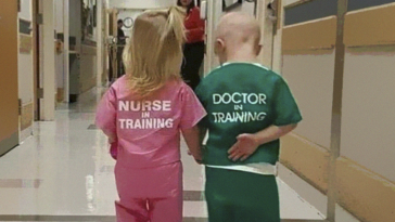 Photo Of A Girl Dressed As A Nurse And A