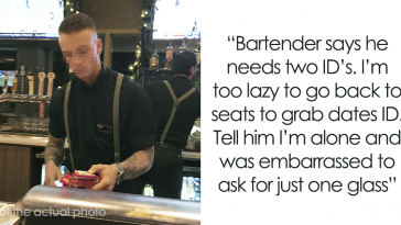 Guy Lies To Bartender About His ID To Get Wine
