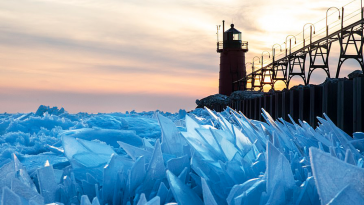 Spring Shatters Frozen Lake Michigan Into Countless Ice Shards, And